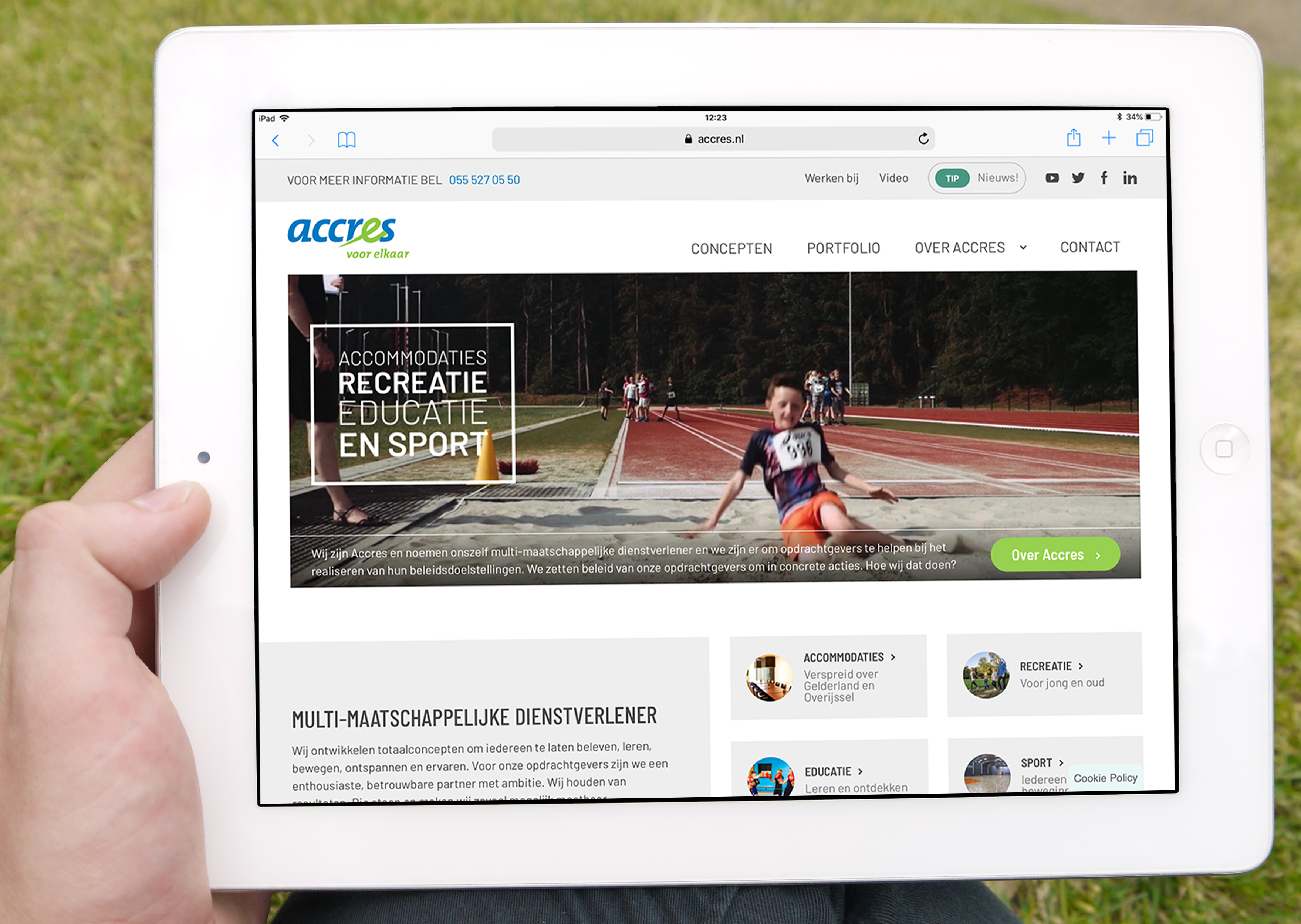 Webdesign Accres.nl